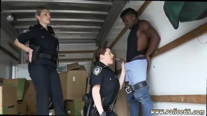 Monster interracial anal xxx Black suspect taken on a harsh ride - scene 1