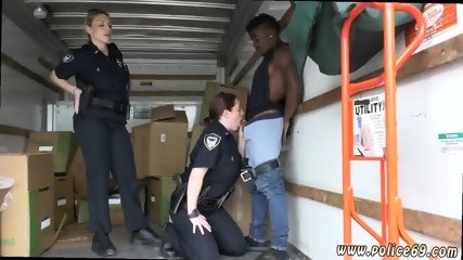 Monster interracial anal xxx Black suspect taken on a harsh ride - scene 3
