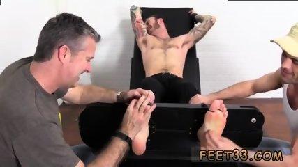 Slave gay feet Officer Christian Wilde Tickled - scene 11