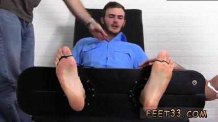 Slave gay feet Officer Christian Wilde Tickled - scene 2