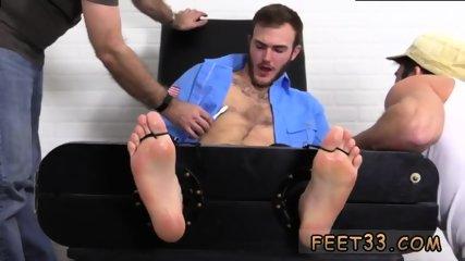 Slave gay feet Officer Christian Wilde Tickled - scene 3