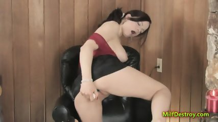 Lusty MILF is playing with a sex toy - scene 7