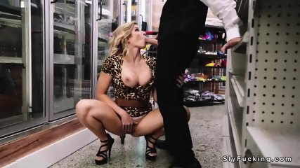 Driver fucks blonde in sneaky place - scene 4