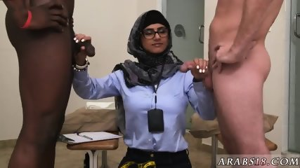 Arab blond girl Black vs White, My Ultimate Dick Challenge. - scene 2