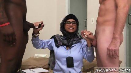 Arab blond girl Black vs White, My Ultimate Dick Challenge. - scene 3