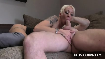 British fake agent fucks slim blonde - scene 10