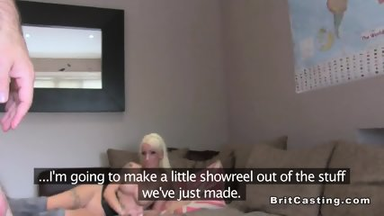 British fake agent fucks slim blonde - scene 12