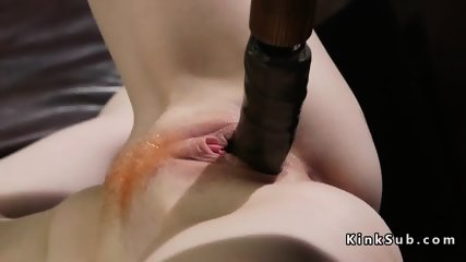 Redhead lesbian in chains anal fucked - scene 8