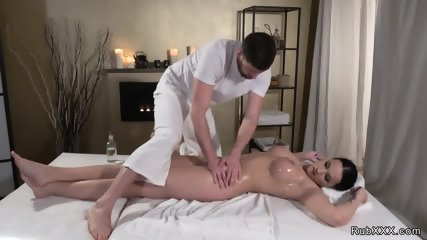 Huge dick masseur fucks busty German - scene 5