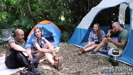 Sleeping teen fucked and blonde group Backwoods Bartering - scene 1