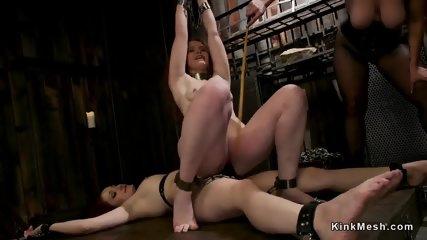 Three redhead lesbians anal fucking - scene 8