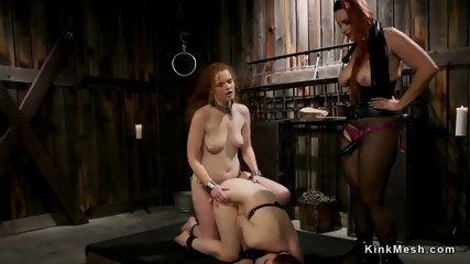 Three redhead lesbians anal fucking - scene 9