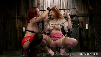 Three redhead lesbians anal fucking - scene 2