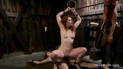 Three redhead lesbians anal fucking - scene 5