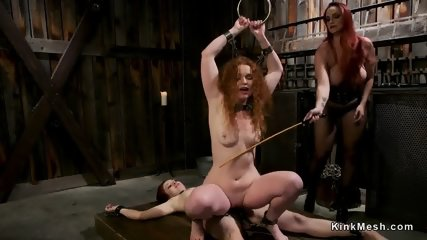 Three redhead lesbians anal fucking - scene 6