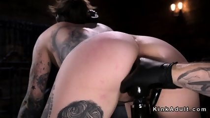 Tattooed brunette vibed and fingered - scene 9