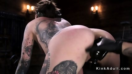Tattooed brunette vibed and fingered - scene 10