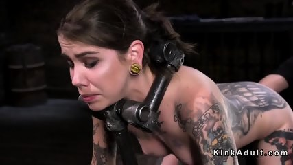 Tattooed brunette vibed and fingered - scene 11