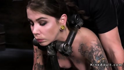 Tattooed brunette vibed and fingered - scene 12