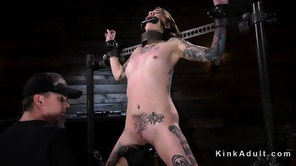 Tattooed brunette vibed and fingered - scene 3