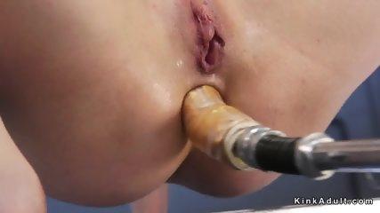 Natural busty blonde anal fucks machine - scene 11