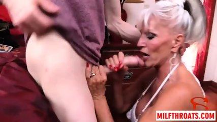 Big tits milf threesome with cumshot - scene 8
