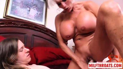 Big tits milf threesome with cumshot - scene 12