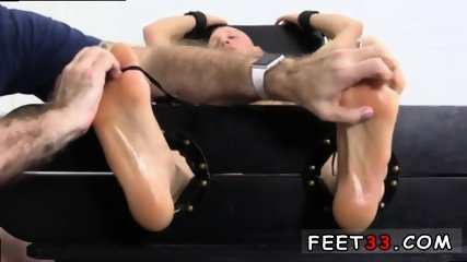 Sleepy male feet worship and hot legs in the air gay Cristian talked about how jumpy he - scene 3