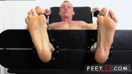 Sleepy male feet worship and hot legs in the air gay Cristian talked about how jumpy he