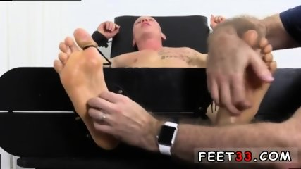 Sleepy male feet worship and hot legs in the air gay Cristian talked about how jumpy he - scene 6