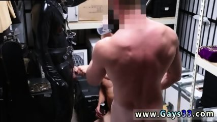 Straight married men masturbating gay Dungeon tormentor with a gimp - scene 10