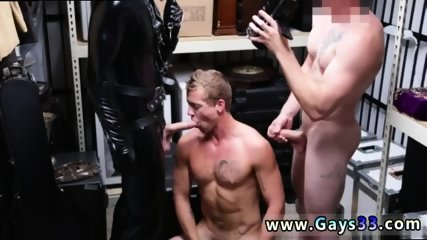 Straight married men masturbating gay Dungeon tormentor with a gimp - scene 7