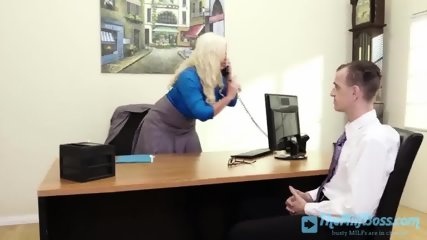Blonde Milf Jumps on Employee s Chock
