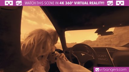 VRBangers.com-Two hot blonde babes fucking hard on mars VR porn parody threesome
