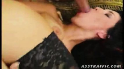 Mya in black stockings gets fucked the shit ot of her
