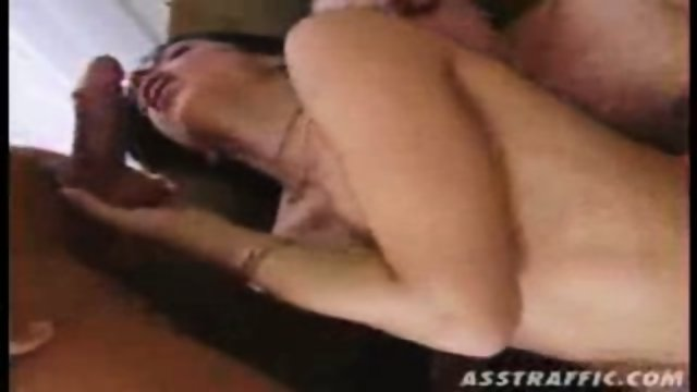 Hot chick gets stuffed a big hard cock in her unfucked asshole