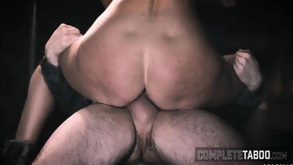 Cock tugging cougar sucks