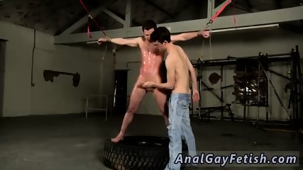 Nude emo boys bondage gay The flogging catches the man off-guard, and the ball spanking