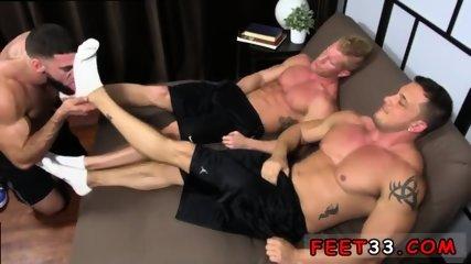 Gay feet flip flops giant Ricky Hypnotized To Worship Johnny & Joey