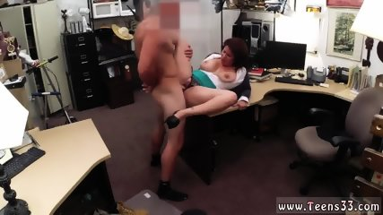 Big tit redhead MILF sells her husband s stuff for bail $$$