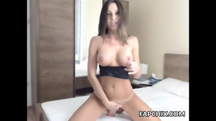 Adorable Shaved Coed Dildoing Herself