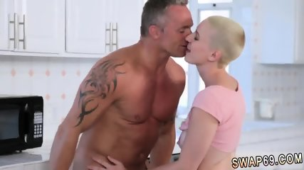 Blowjob under table at family dinner Fatherly Alterations Pt. 2 - scene 3