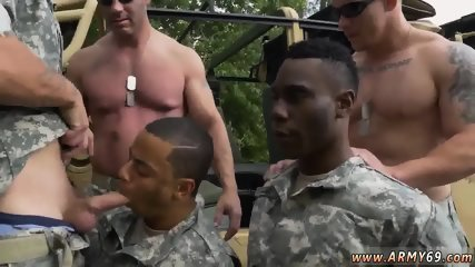 Nude military men showering gay R&R, the Army69 way