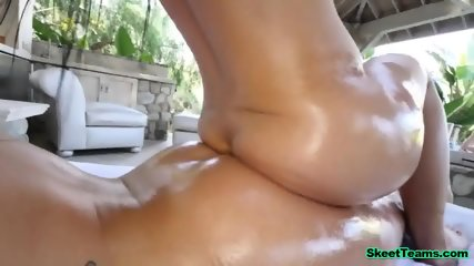Two Stunning Lesbos Fuck With a Dildo