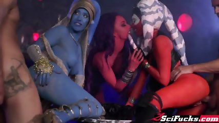 Hot mercenary and 2 sexy Jedi Generals fucked in wild orgy