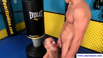 Anally banged muscle stud cums after workout - scene 8