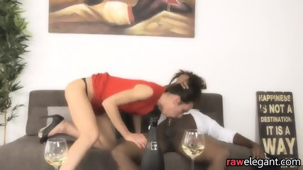 Glam Eurobabe Bounces On Black Wang - scene 2
