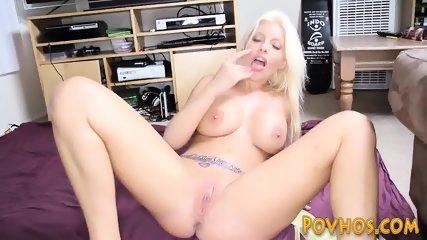 Busty blonde pov riding