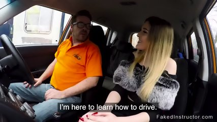 Instructor bangs driving student at first class