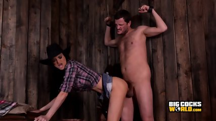 Sexy Cowgirl And Her Horse Cock